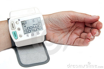 High blood pressure isolated on white