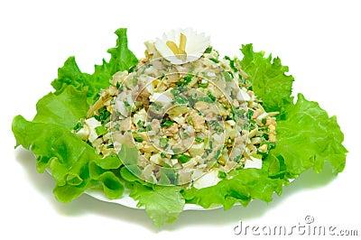 High-calorie salad