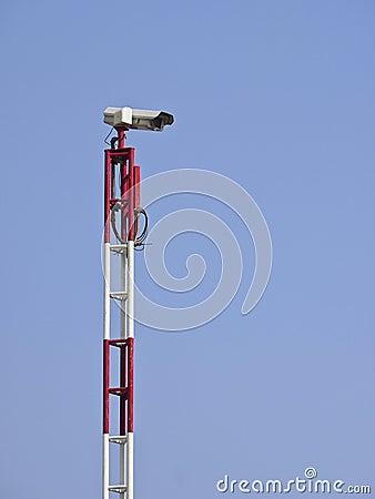 High camera pole