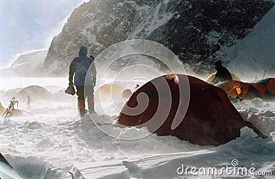 High camp on the Khan-Tengri