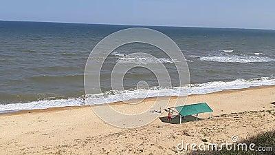High coast. Of the Sea of Azov stock video
