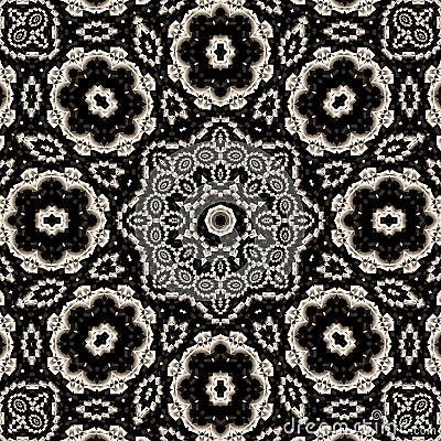High contrast floral mandala