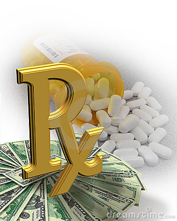 High Cost of Medicine money pills