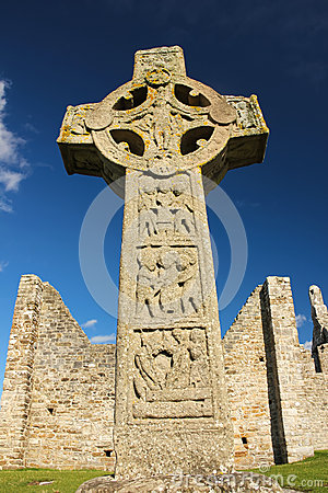 Free High Cross Of The Scriptures. Clonmacnoise. Ireland Stock Photos - 33392053