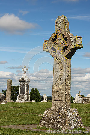 High Cross of the scriptures. Clonmacnoise. Ireland