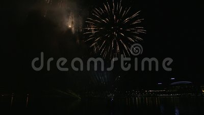 High Definition Movie Of New Year`s Eve Festive Firework Show Celebration  At Night In Singapore 1080p Hd Stock Footage   Video Of 1920x1080, ...