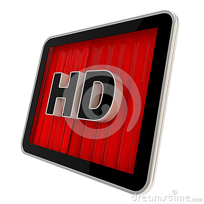 High definition pad screen icon