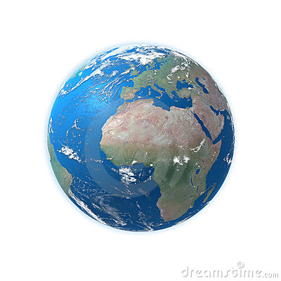 Free High Detailed Earth Map, Europe, Africa Royalty Free Stock Images - 12433629