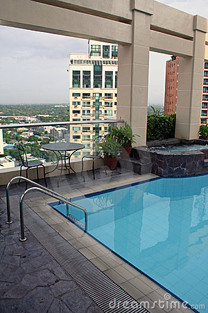 High dive rooftop swimming pool manila city