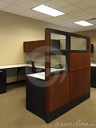 Free High End Wood Paneled Business Open Office Space Royalty Free Stock Photo - 1332145