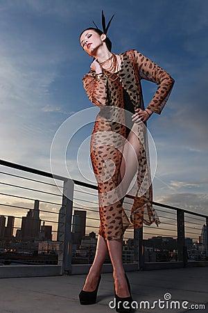 High Fashion Editorial Concept Beautiful Woman