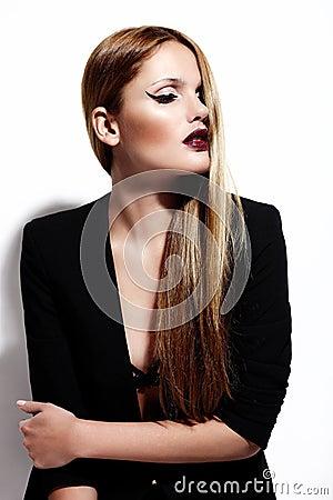 Sexy stylish Caucasian young model