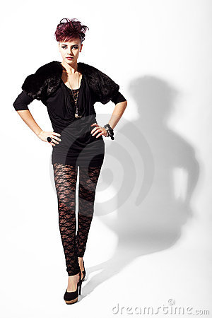 High fashion model is standing pose