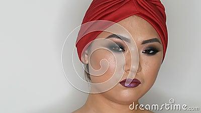 high fashion portrait of a beautiful asian girl model