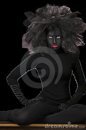 High Fashion Shot - Black Face