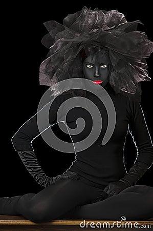 High Fashion Shot - Black Face