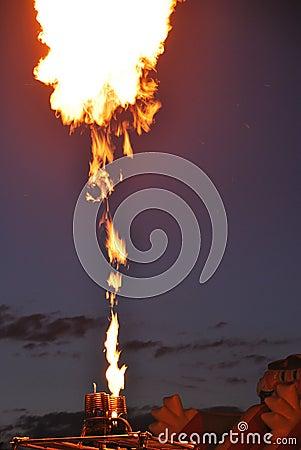 High fire from a balloon