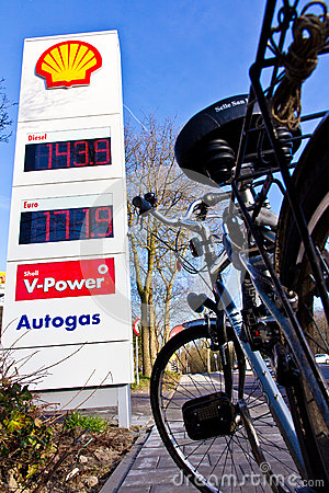 High gas price solution is the bicycle Editorial Image