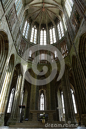 High Gothic ceiling, Mont St Michel