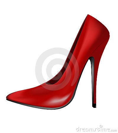 High heel red shoe