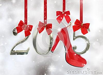High heel shoe and 2015