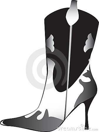High heeled womans boot