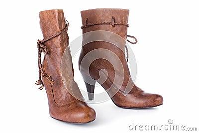 High heels half boot
