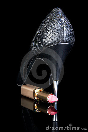 High Heels And Lipstick Stock Images - Image: 1841544