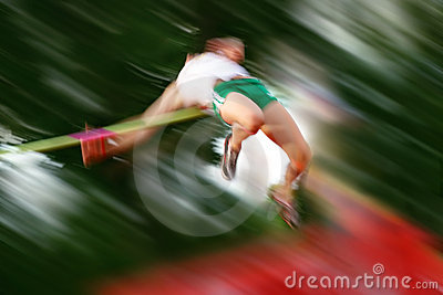 High Jump motion blur
