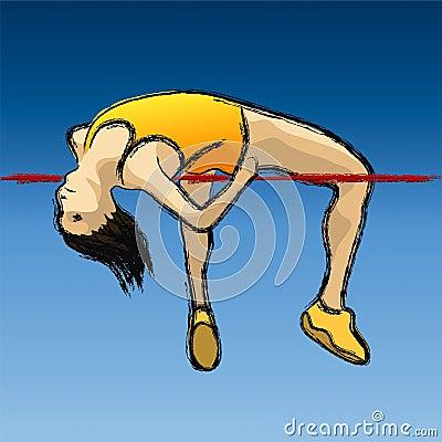 High jump (vector)