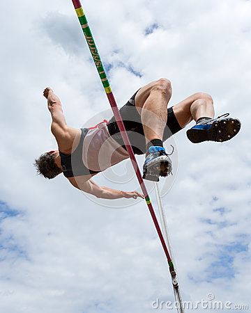 High jump in a worm eye s view
