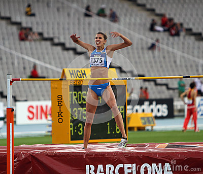 High jumper Alessia Trost from Italy win high jump Editorial Stock Photo