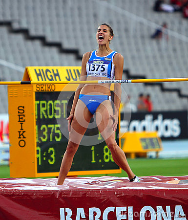 High jumper Alessia Trost from Italy win high jump Editorial Photo
