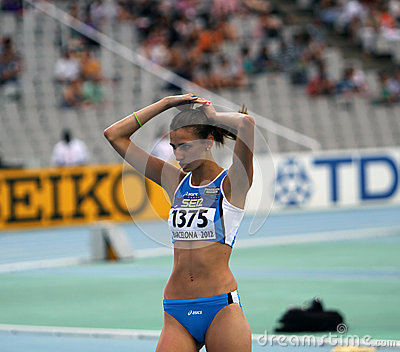 High jumper Alessia Trost from Italy win high jump Editorial Image
