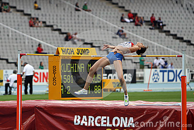 High jumper Maria Kuchina from Russia Editorial Photo