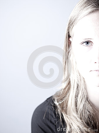 Free High Key Image Of A Young Teenage Girl Looking Sad Or Depressed Stock Photos - 42745553