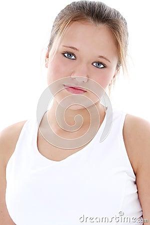 Free High Key Portrait Of Teen Girl Stock Image - 186691