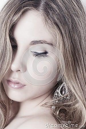 Free High Key Woman Portrait Royalty Free Stock Photography - 32448657