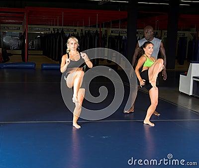 High Knee Kicks Stock Photo