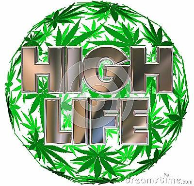 Free High Life Marijuana Pot Leaf Sphere Stock Image - 79888891