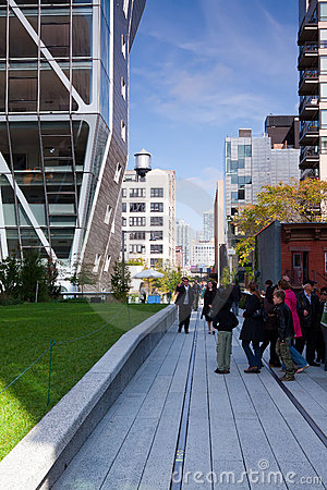The High Line in NY Editorial Image
