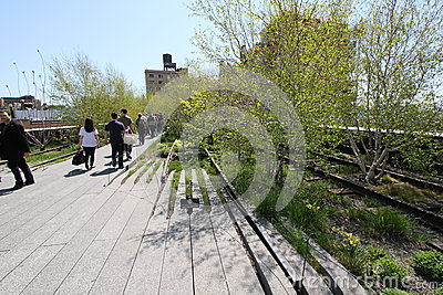High Line NYC Editorial Stock Photo