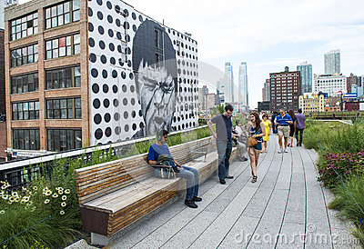 High line park in New York Editorial Stock Photo