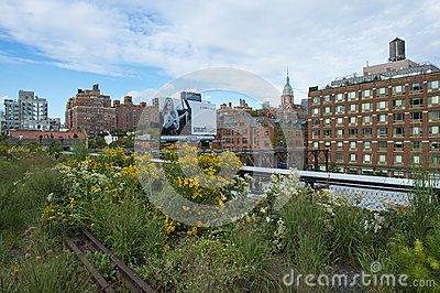 High line park in New York Editorial Photo