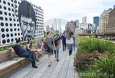 High line park in New York Editorial Photography