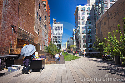 High Line Park NYC Editorial Stock Photo