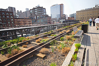 High Line Park NYC Editorial Image