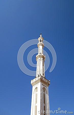High mosque minaret