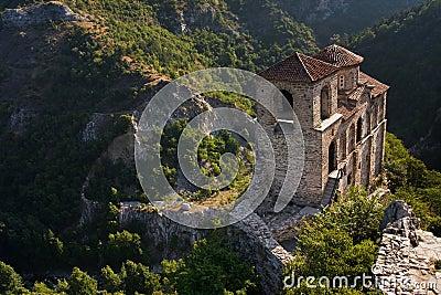 High mountain castle church