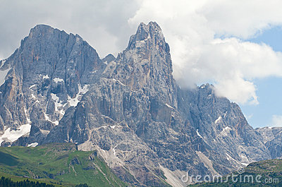 High mountain landscape in Dolomites